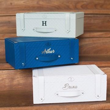 caixa de sentimentos azul marinho
