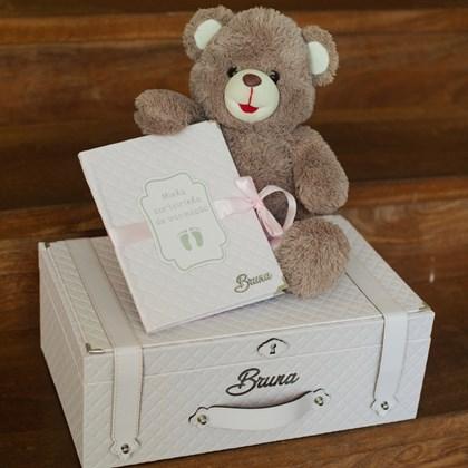 caixa de sentimentos rosa bebê