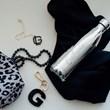 chaveiro e charm de bolsa 1 inicial bold preto