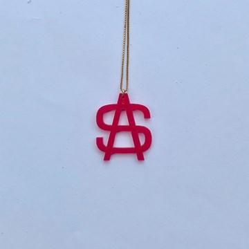 colar com monograma pink