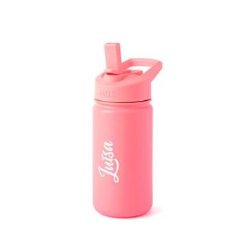garrafa térmica infantil personalizada rosa