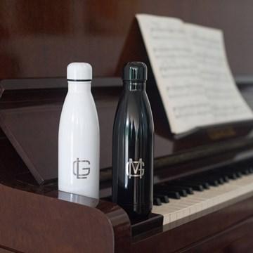 garrafa térmica personalizada preta 500ml - sibéria