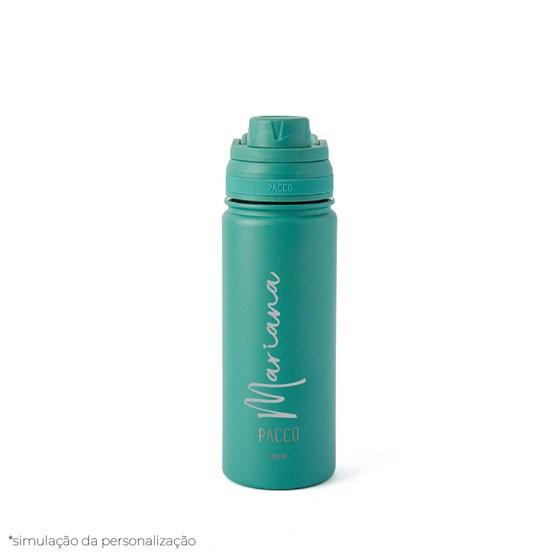 garrafa térmica personalizada verde 500ml - Pacco