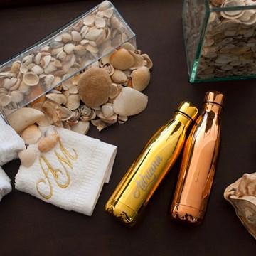 garrafa térmica Sibéria Shine dourada
