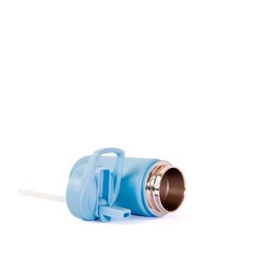 garrafinha térmica azul 350ml personalizada - Pacco