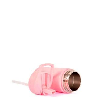 garrafinha térmica rosa 350ml personalizada - Pacco