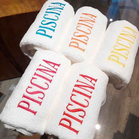 jogo de 5 toalhas piscina Buddemeyer