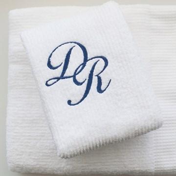 jogo rosto + banho bordado com monograma