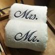 kit 2 toalhas Mrs. Mr.
