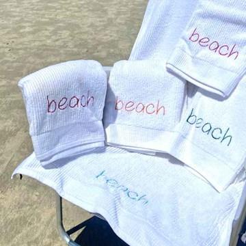 kit 5 toalhas praia bordadas beach - buddemeyer