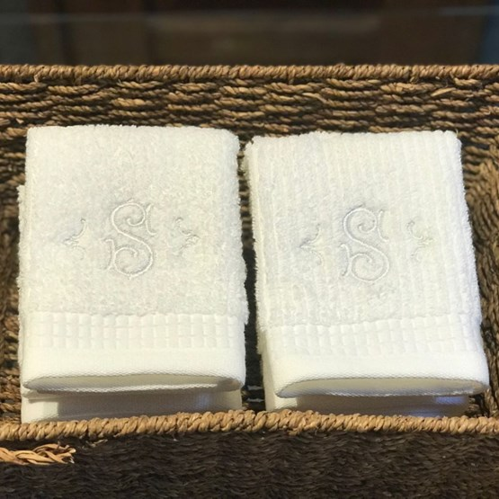kit 6 toalhas de lavabo monograma roma