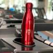 kit GYM garrafa térmica personalizada vermelha + toalha fitness com monograma