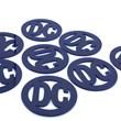 porta-copos azul royal redondo personalizado