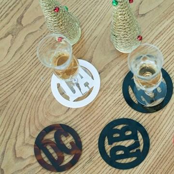 porta-copos branco redondo personalizado