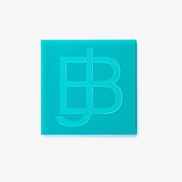 porta-copos quadrado azul turquesa