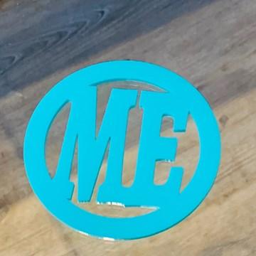 porta-copos redondo azul turquesa