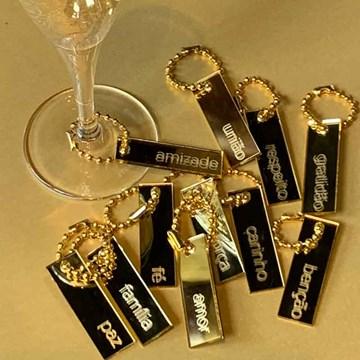 set 12 tags de taças douradas sentimentos