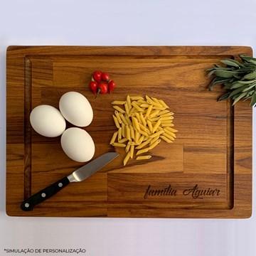 tábua de madeira personalizada 2 em 1