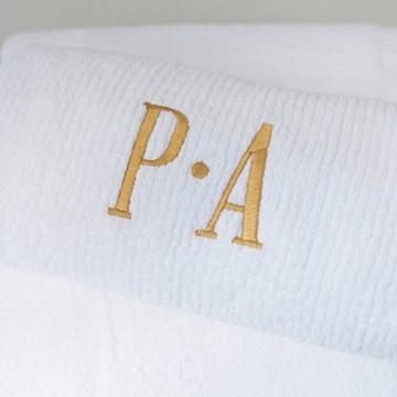 toalha banho padrão bordada - buddemeyer