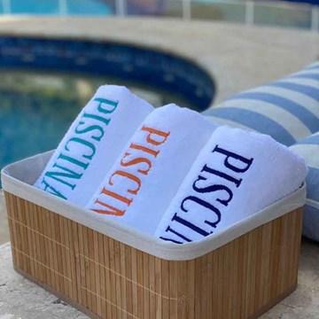 toalha de piscina bordada - buddemeyer