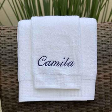 toalha de rosto branca Hotel Buddemeyer