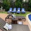 toalha piscina bordada com monograma clássico gigante bordada - Buddemeyer