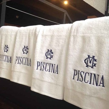 toalha PISCINA gigante com monograma