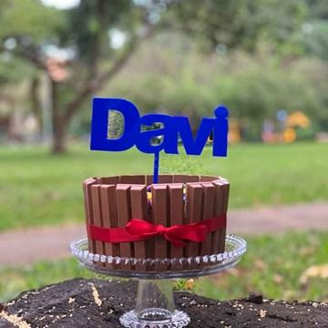 topo de bolo personalizado azul royal