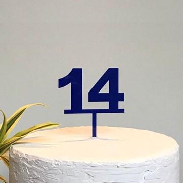 topo de bolo personalizado idade azul royal