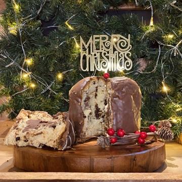 topo de bolo personalizado Merry Christmas acrílico dourado